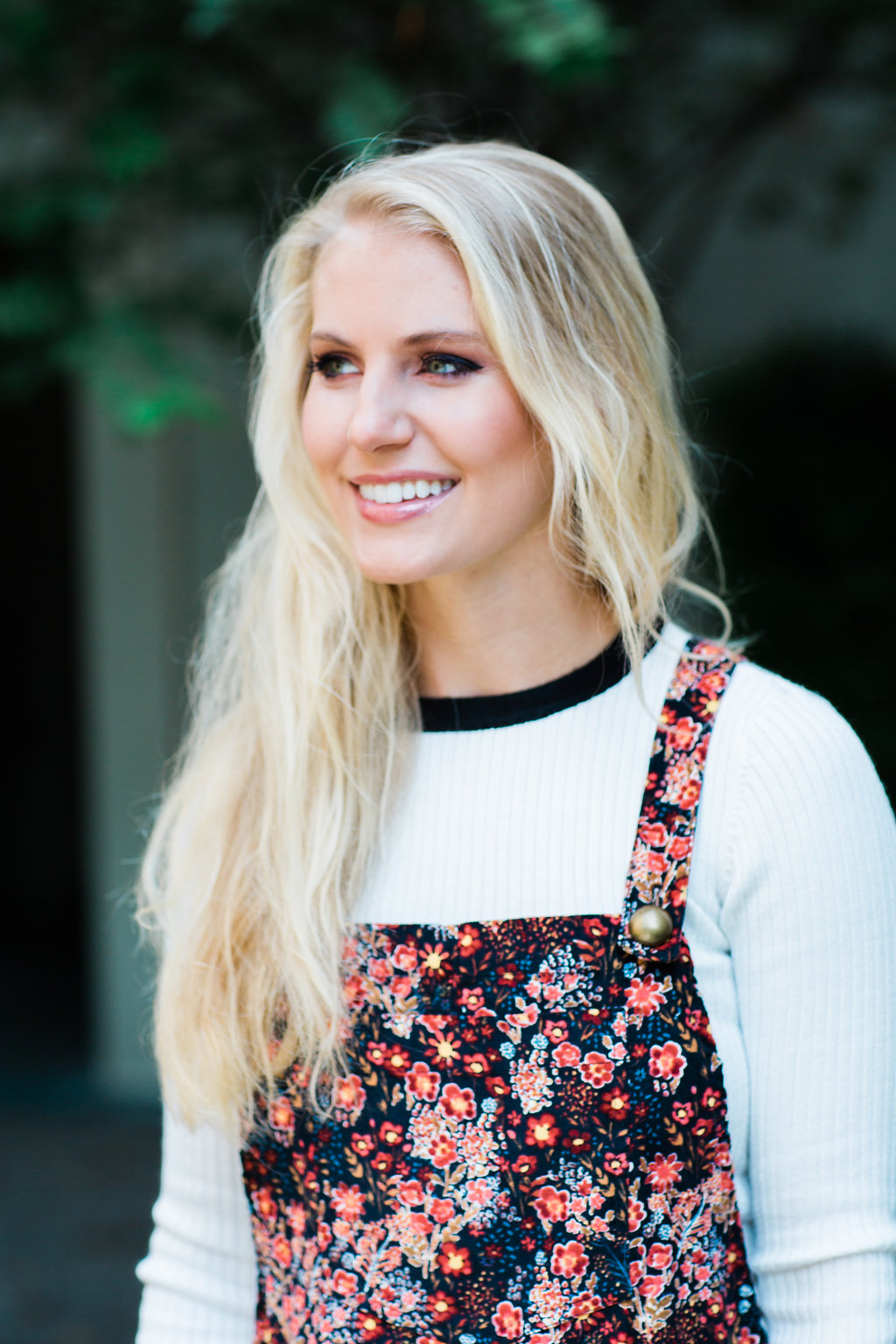 Fashion blogger The Trendy Tomboy wears Xhilaration Corduroy Pinafore
