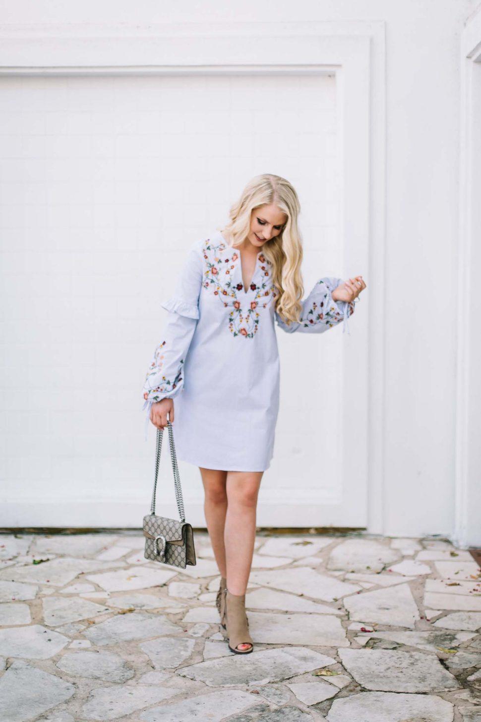 nordstrom floral embroidered dress