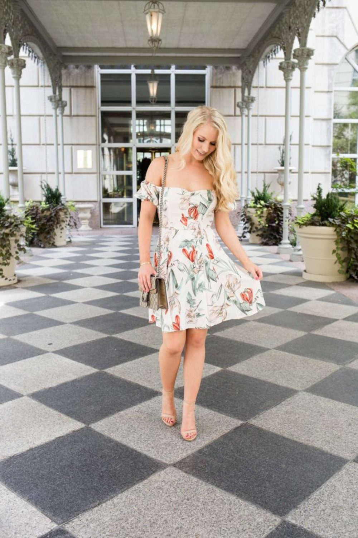 nordstrom floral mini dress
