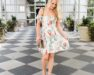 nordstrom floral mini dress