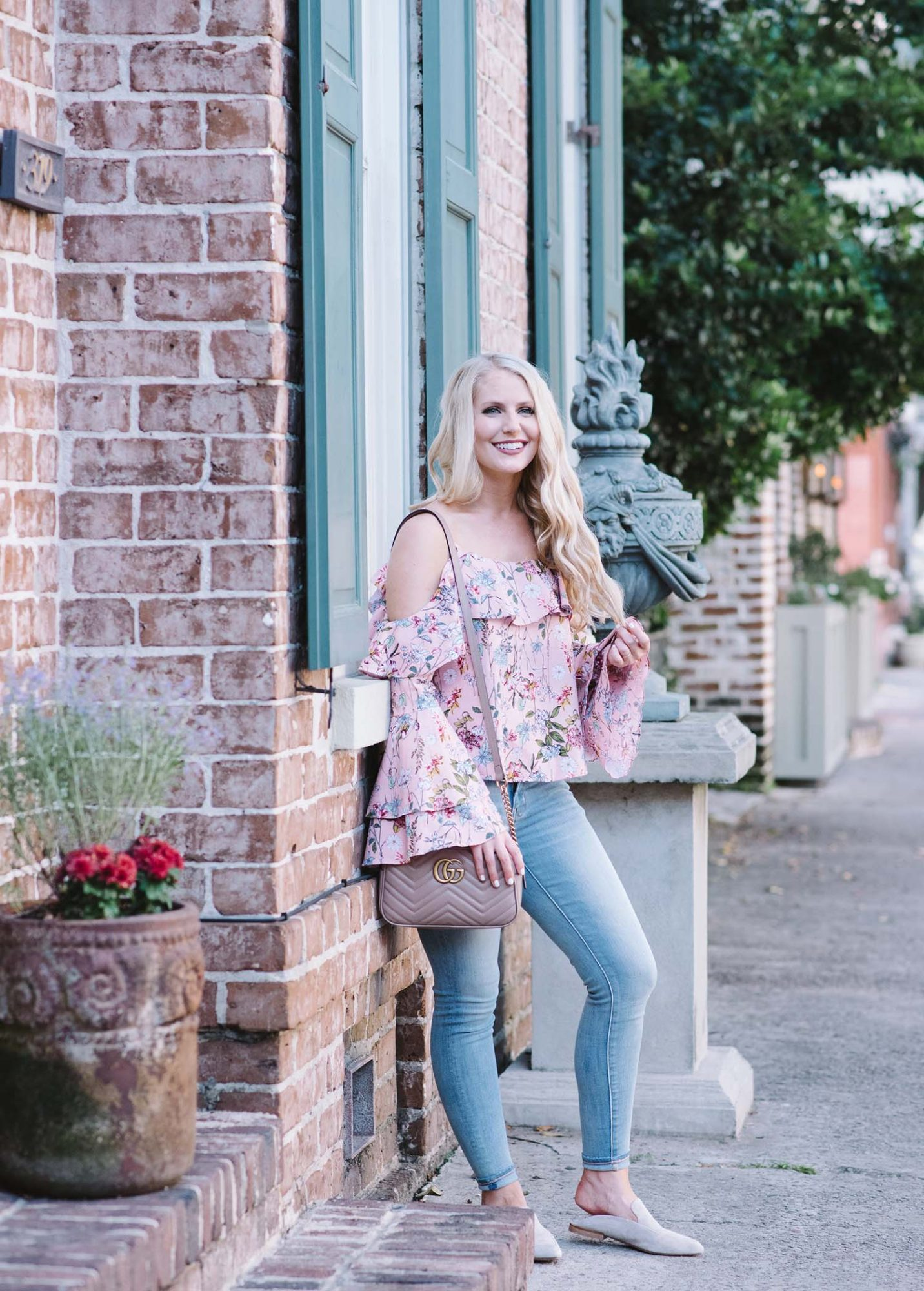 Floral Poplin Top + Savannah, Georgia Recap