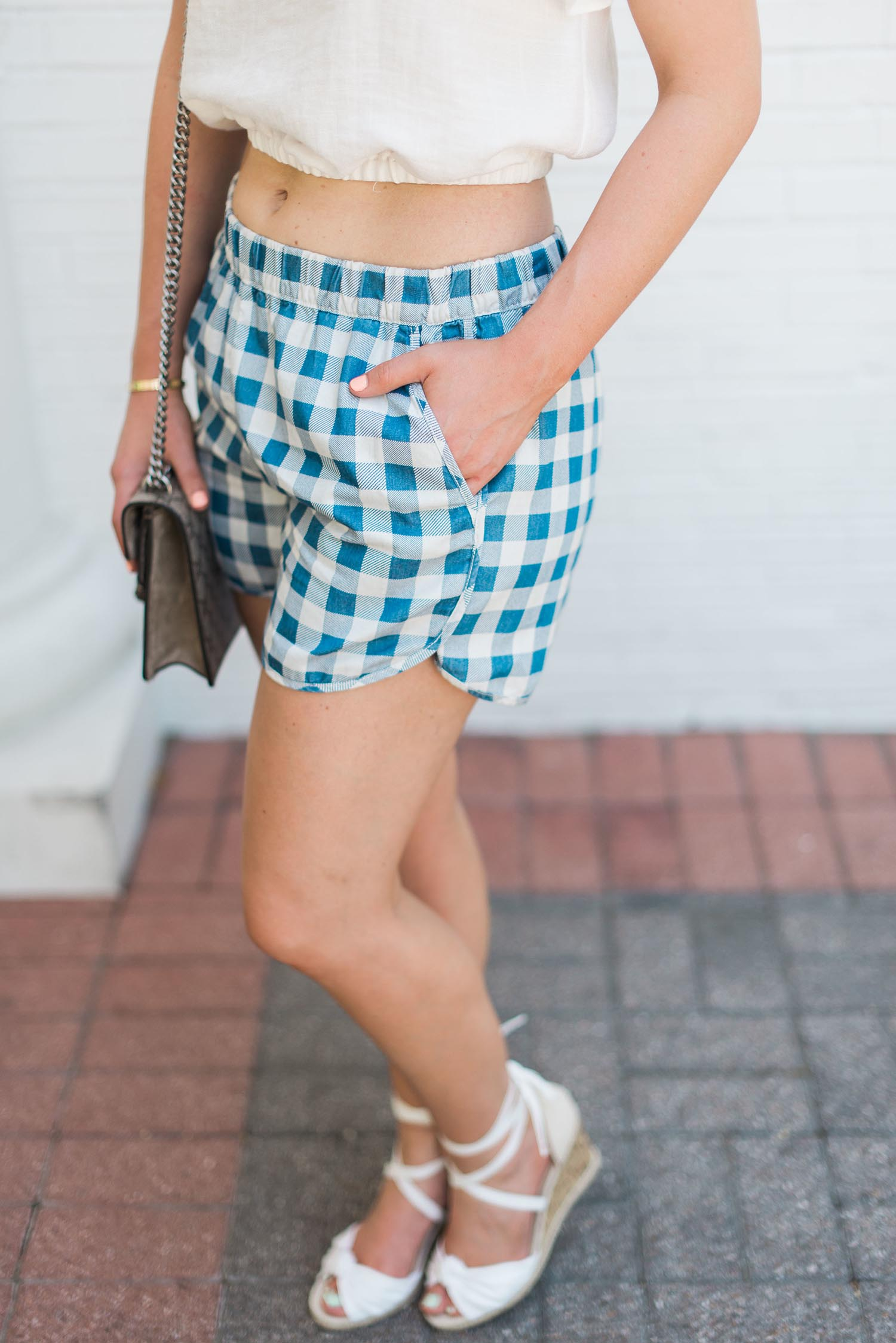 Nordstrom gingham shorts