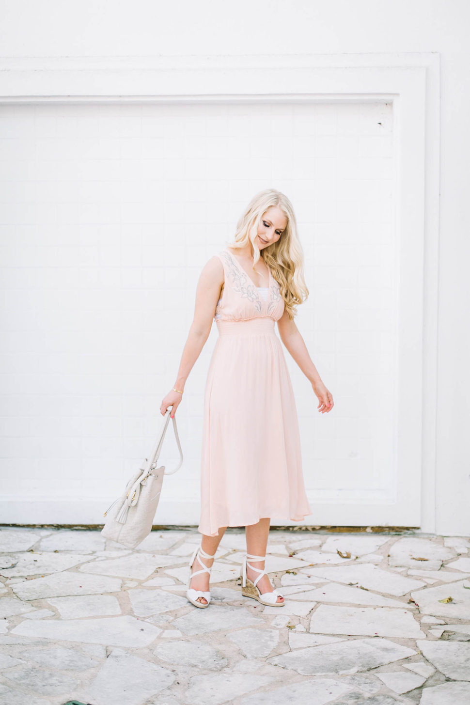 nordstrom peach dress