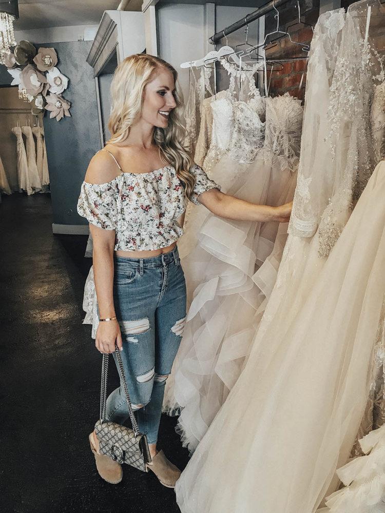 wedding dress shopping at LeAnne's Bridal